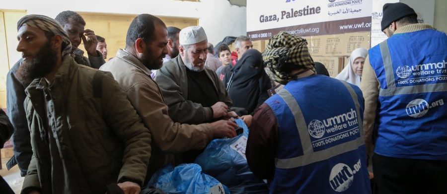 Delivering winter supplies in Gaza