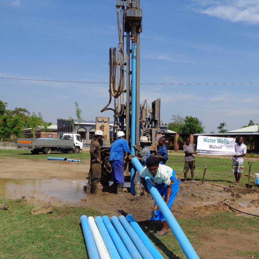A boring rig in Malawi