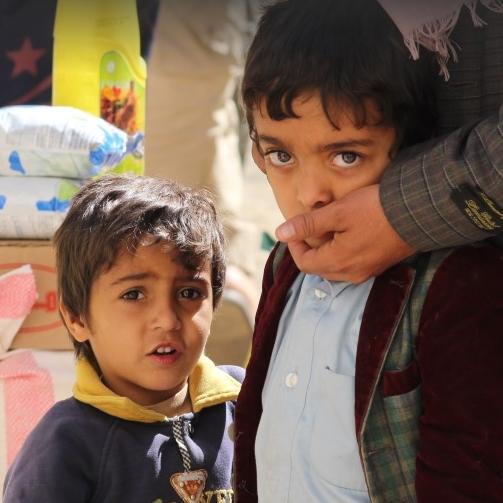 Children in central Yemen