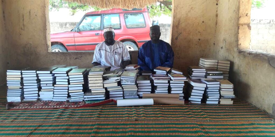 new books for a school in Gambia