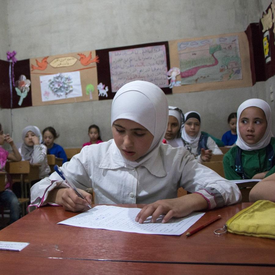 A school in besieged Ghouta, Syria
