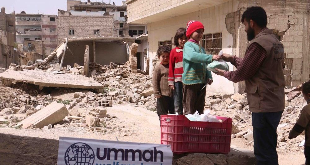 Relief in destroyed Ghouta