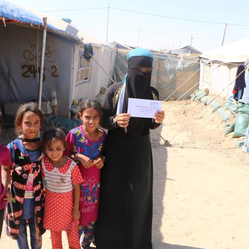 An orphaned family in Iraq