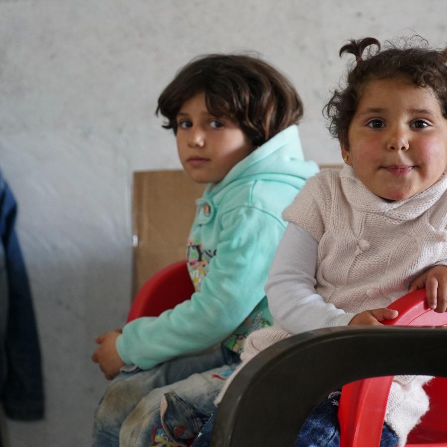 School children in Syria