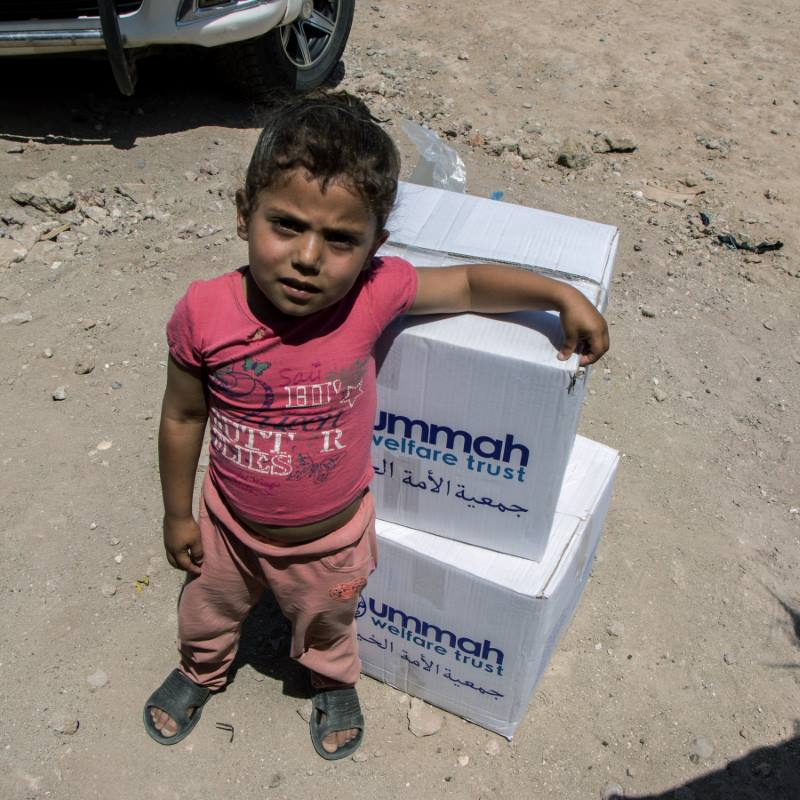 A Displaced child in Syria