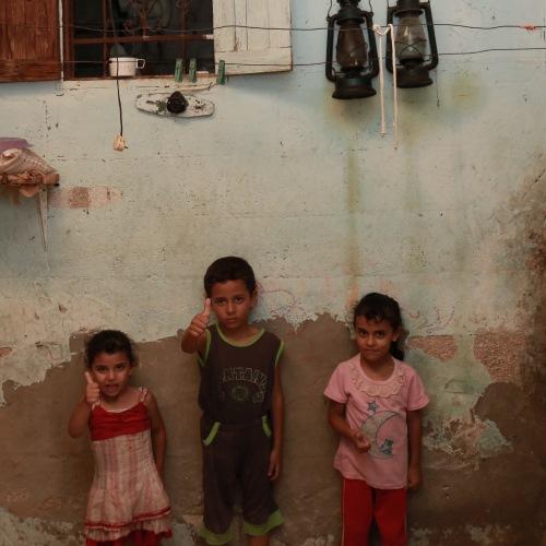 Children in a home in gaza