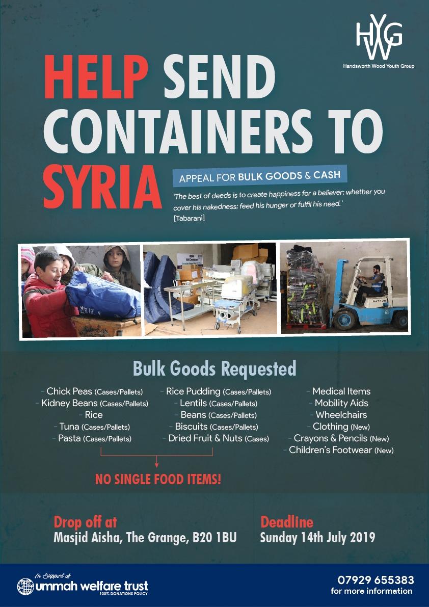 Masjid Aisha Container Appeal