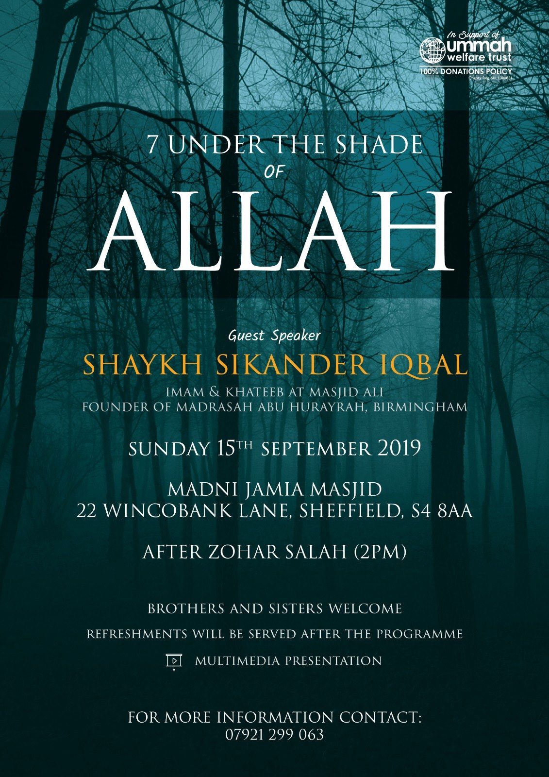 Islamic and Charity Events 2019 - uwt