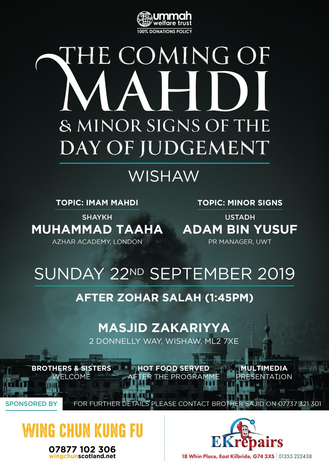 09-22 Coming Of Mahdi Wishaw