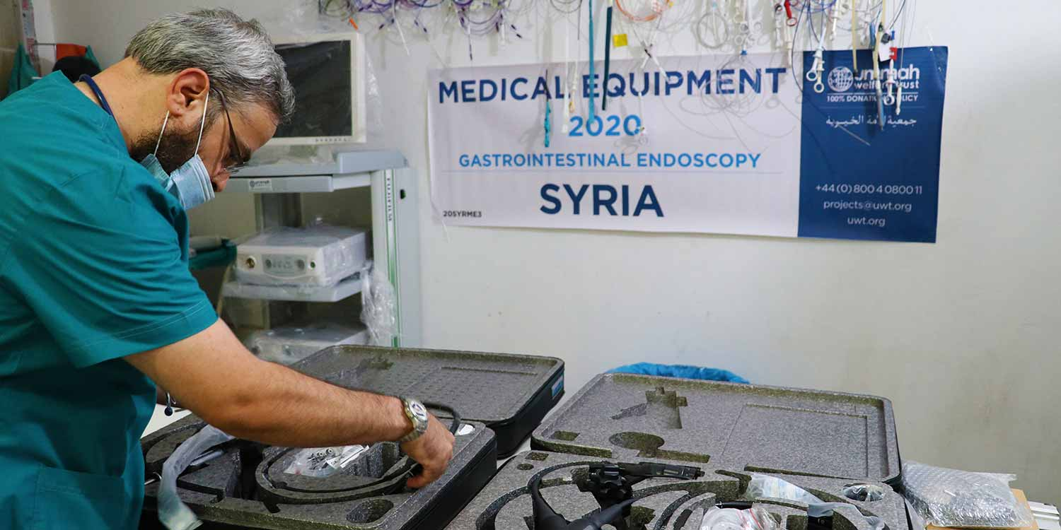 New Endoscopy Equipment For Binnish Hospital In Idlib