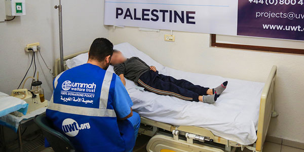 A Child treated at a public hospital in Gaza