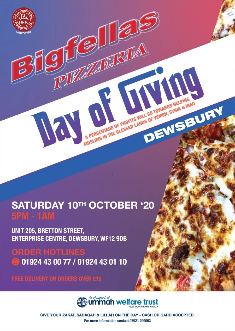 Bigfellas Express Charity Day Of Giving