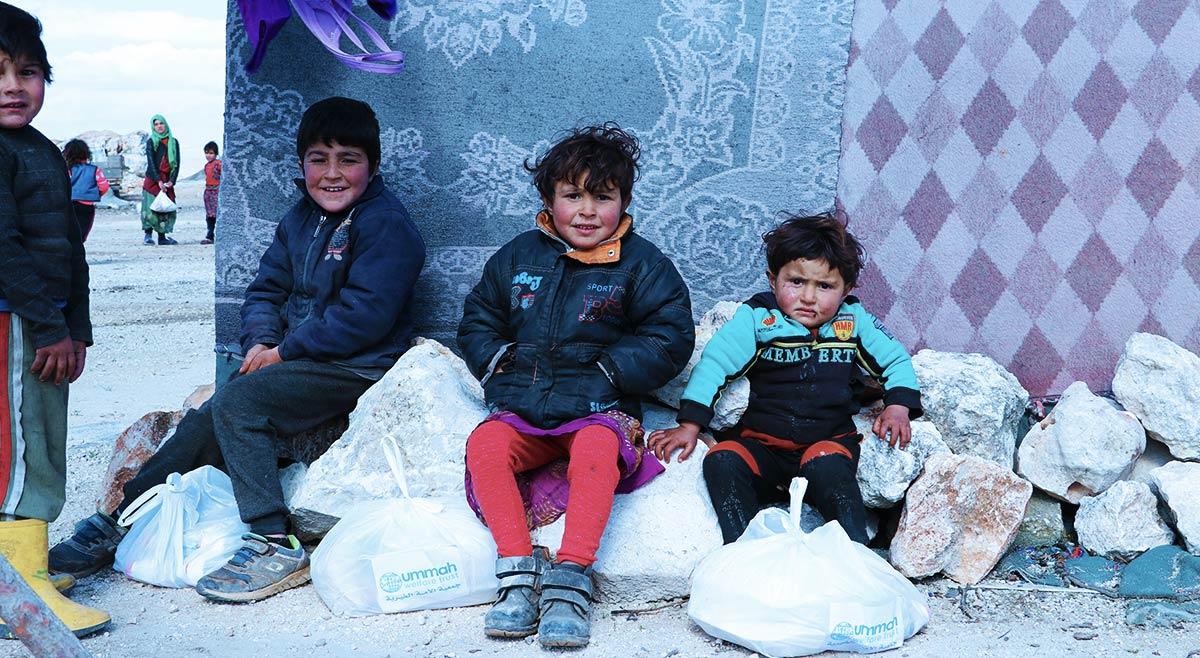 Children in Syria's Winter