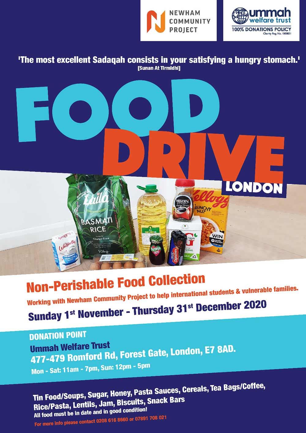 Homeless Food Drive London