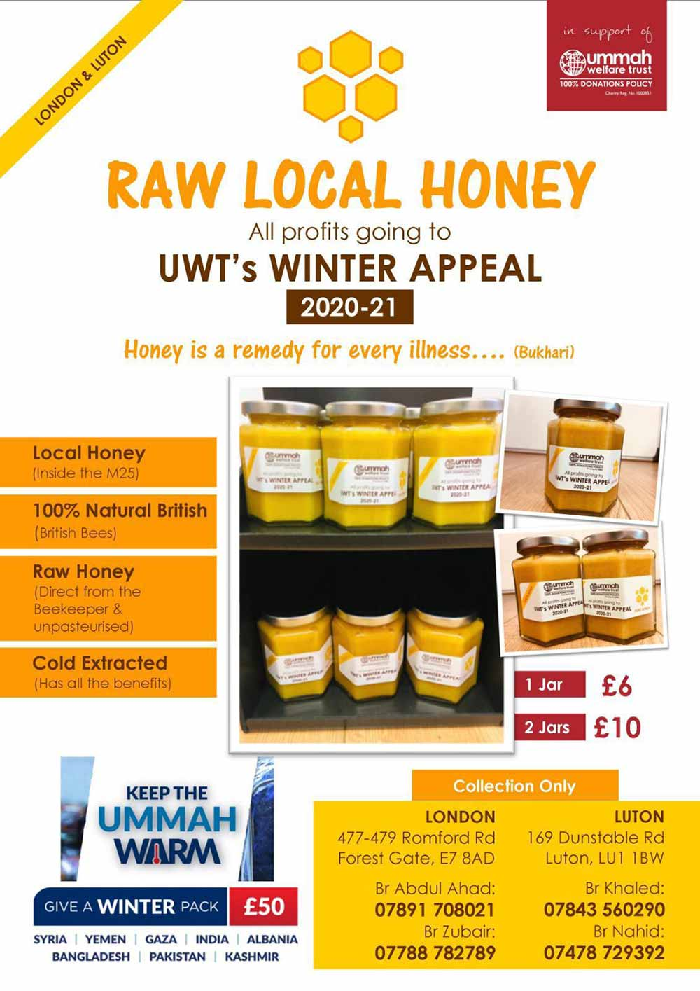 Honey sale for charity