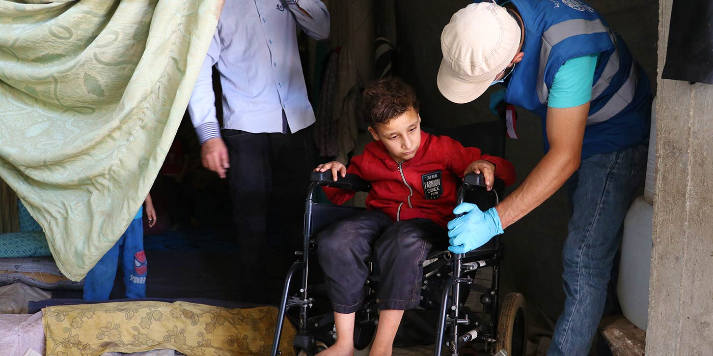 A New Wheelchair For A Child In Syria