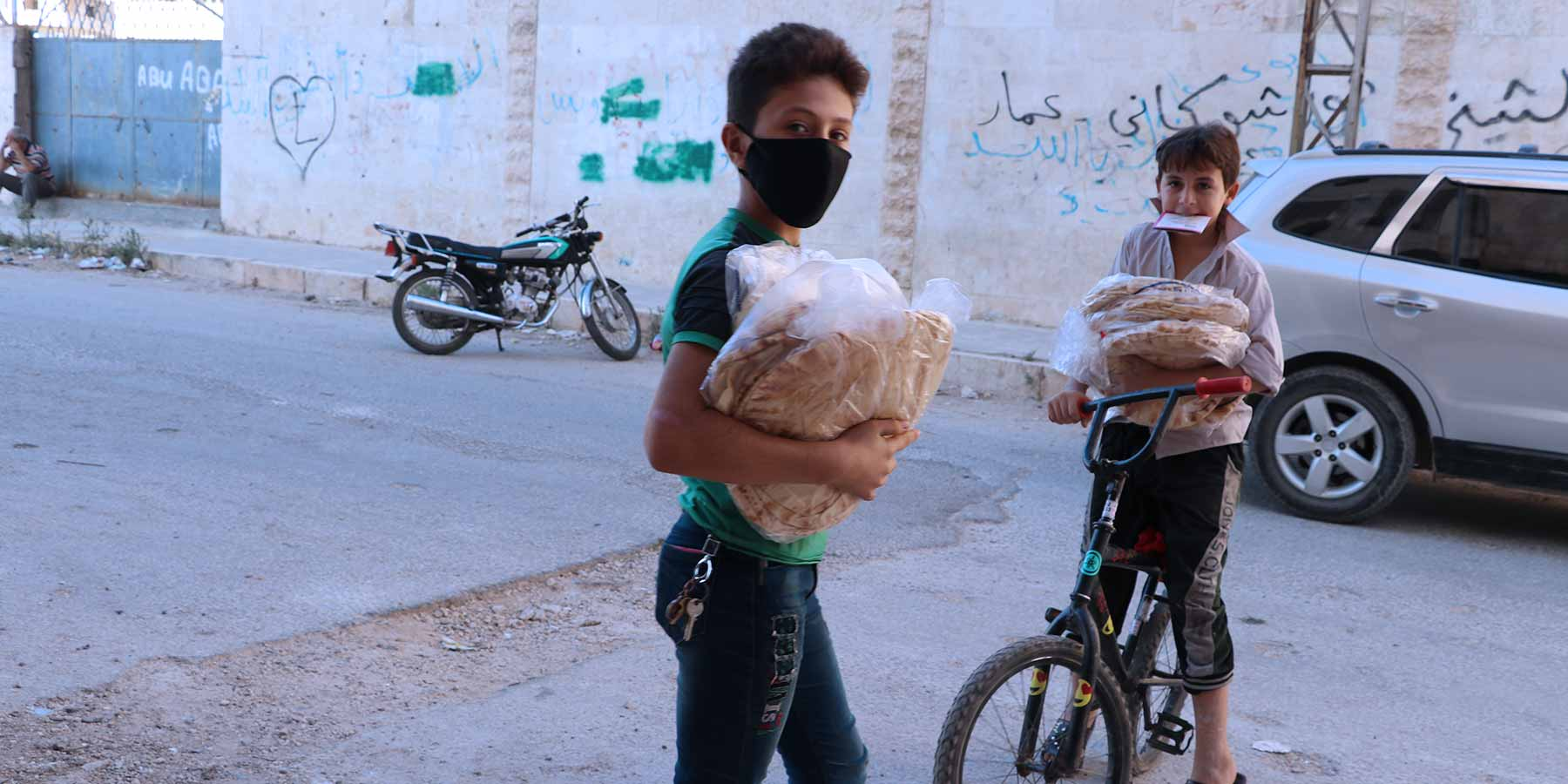 Bread for Children in Idlib Syria