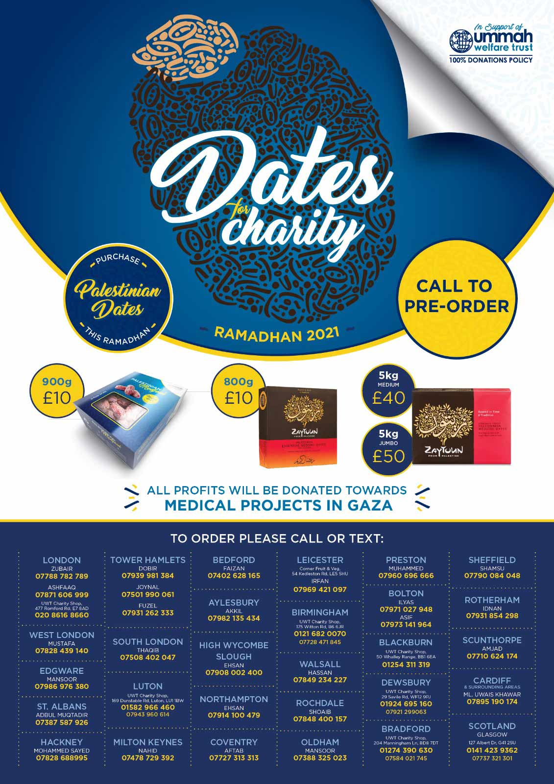 Charity Date Sale for Ramadhan across UK