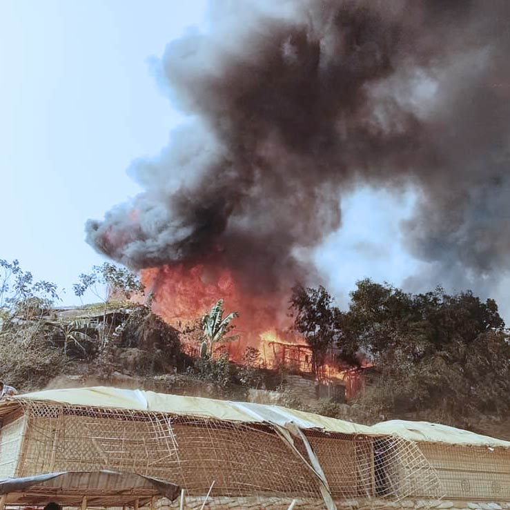 Rohingya Camp Fire Appeal