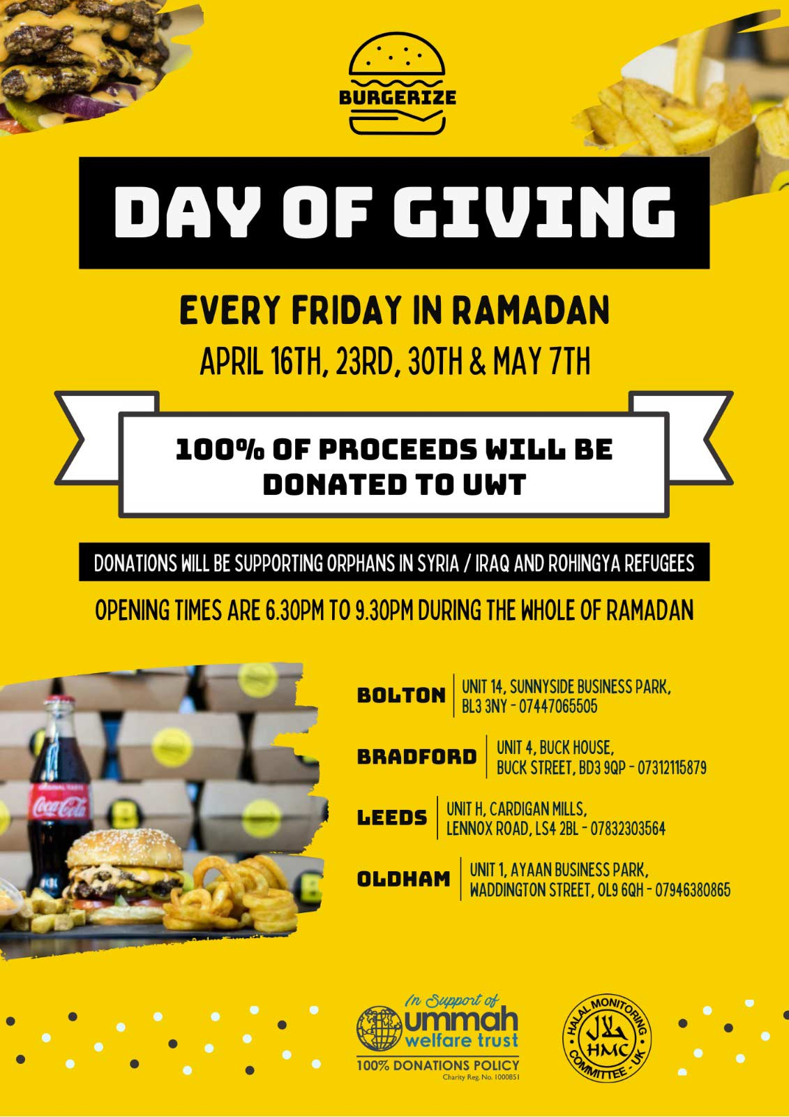 Burgerize Charity Day of Giving Ramadhan