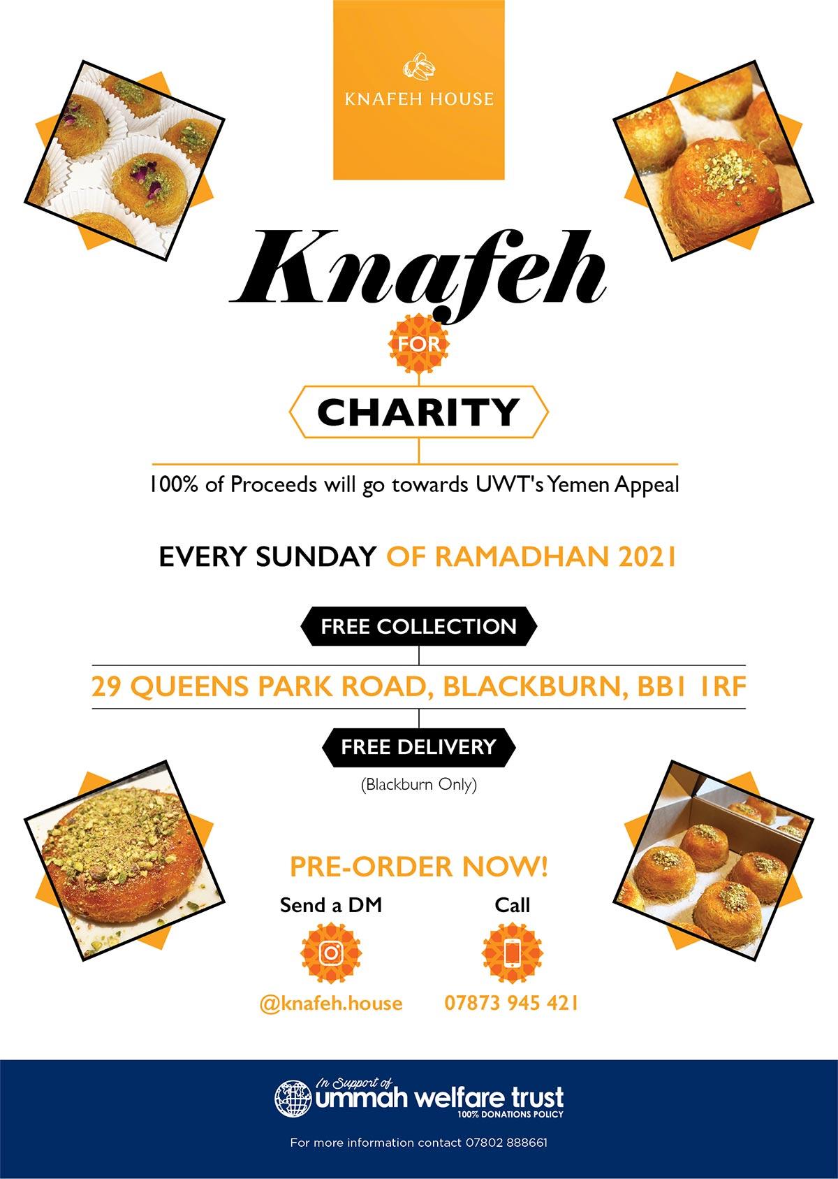 Knafeh for Charity Blackburn