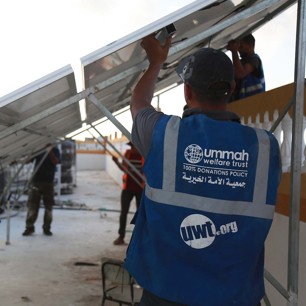 Solar Panel Installation at a School in Gaza