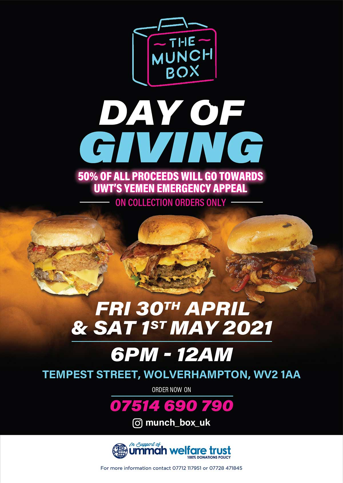 The Munch Box Charity Day of Giving Wolverhampton