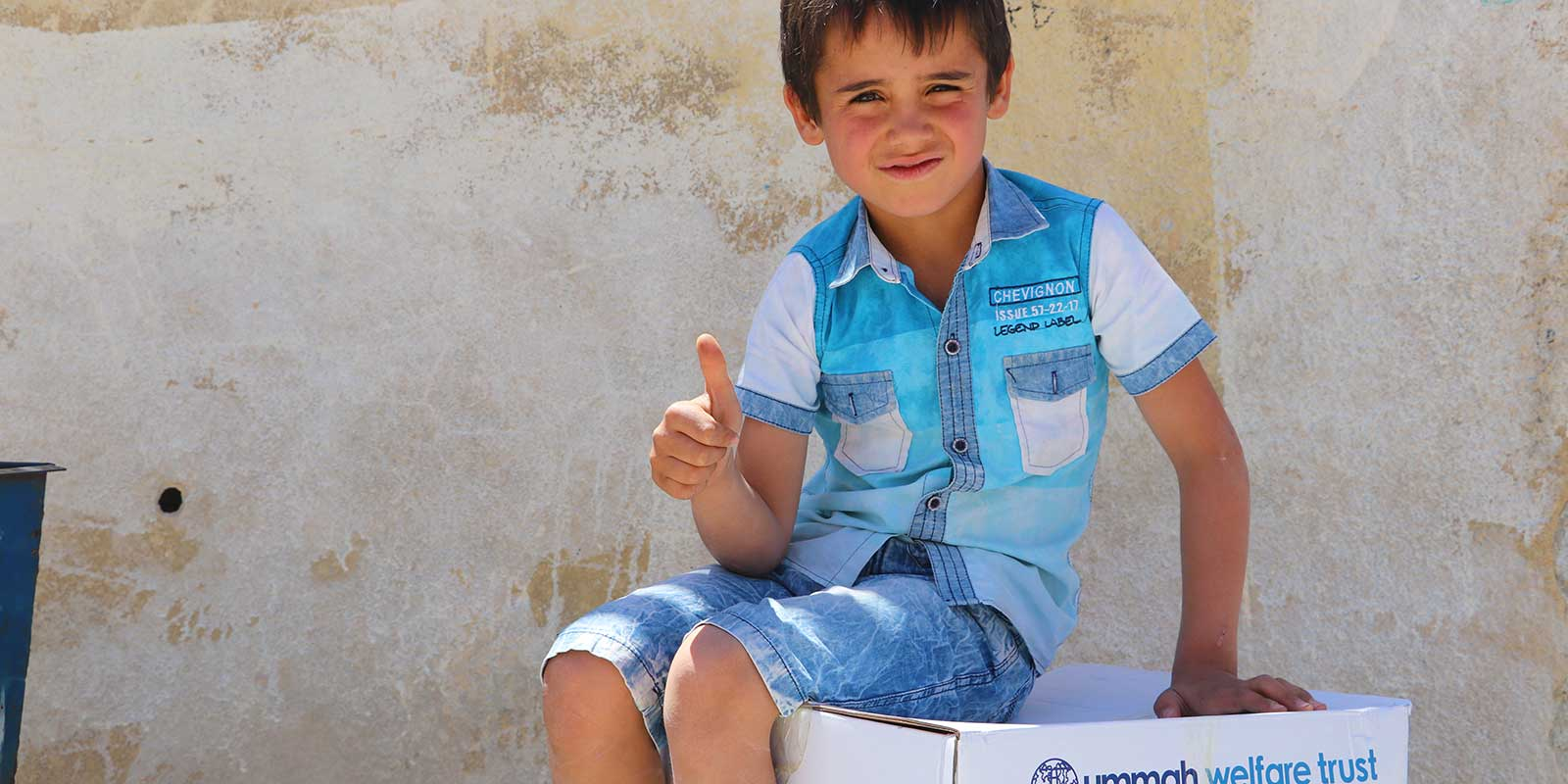 Displaced Syria Child Given Food